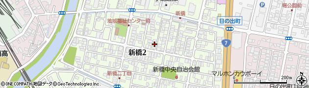 山形県酒田市新橋周辺の地図