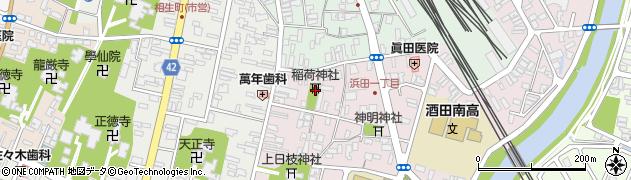 伏見稲荷神社周辺の地図