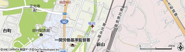 岩手県一関市旭町周辺の地図