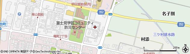 山形県酒田市曙町2丁目周辺の地図