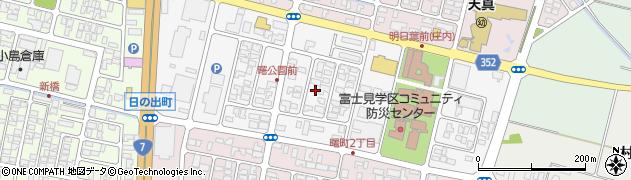 山形県酒田市曙町1丁目周辺の地図