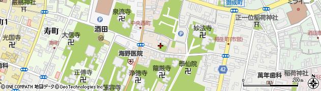 山形県酒田市中央東町2周辺の地図