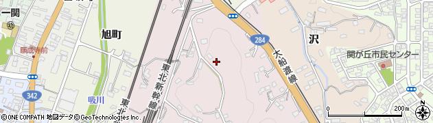 岩手県一関市機織山周辺の地図