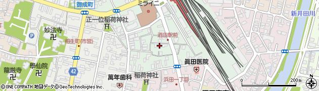 山形県酒田市幸町1丁目周辺の地図