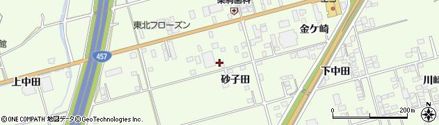 岩手県一関市萩荘(砂子田)周辺の地図