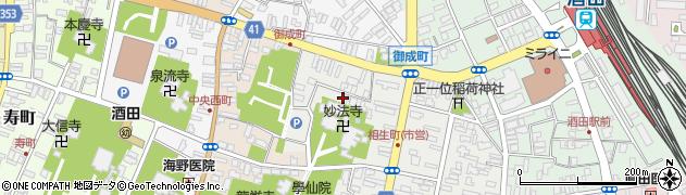 山形県酒田市相生町2丁目周辺の地図