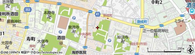 山形県酒田市中央東町1周辺の地図
