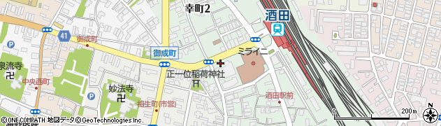 山形県酒田市幸町周辺の地図