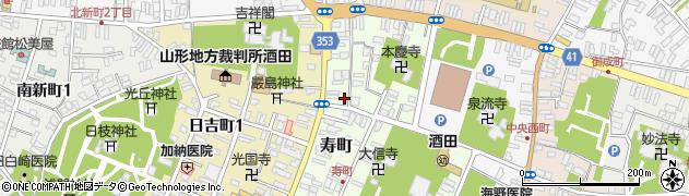山形県酒田市寿町周辺の地図