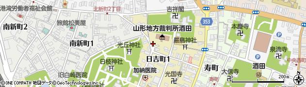 山形県酒田市日吉町周辺の地図