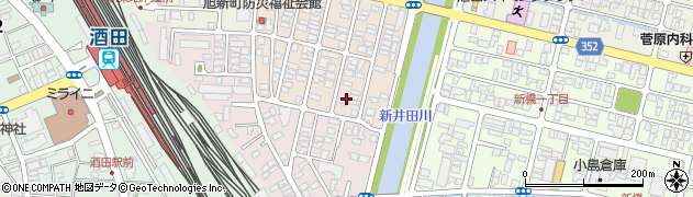 山形県酒田市旭新町7周辺の地図