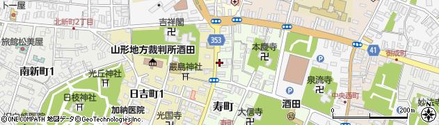 山形県酒田市寿町5周辺の地図