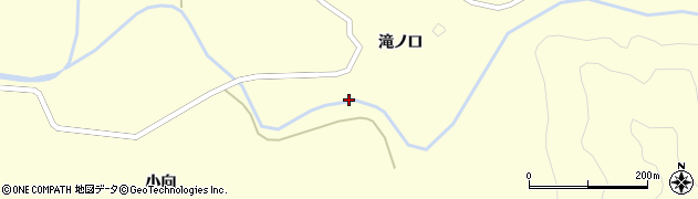 山形県酒田市北俣大向周辺の地図