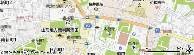 山形県酒田市寿町4周辺の地図