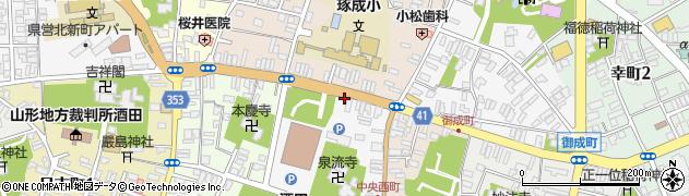 山形県酒田市中央西町1周辺の地図