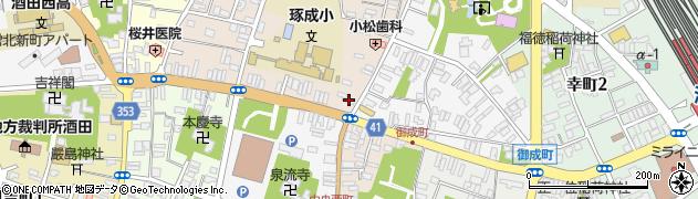 山形県酒田市栄町1-10周辺の地図
