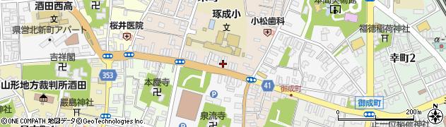 山形県酒田市栄町11周辺の地図