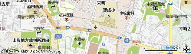 山形県酒田市栄町12周辺の地図