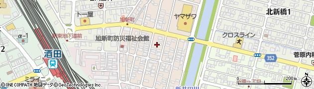 山形県酒田市旭新町10周辺の地図