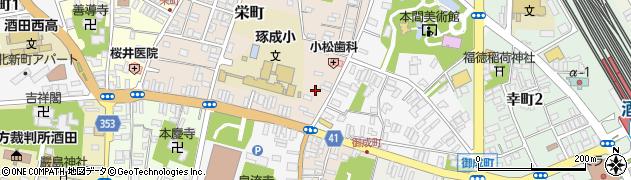 山形県酒田市栄町1周辺の地図