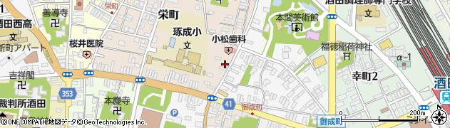 山形県酒田市栄町1-4周辺の地図
