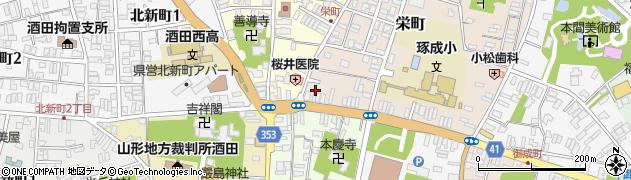 山形県酒田市栄町13周辺の地図