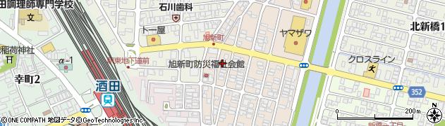 山形県酒田市旭新町12周辺の地図