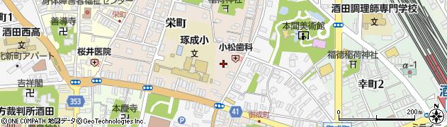 山形県酒田市栄町1-2周辺の地図