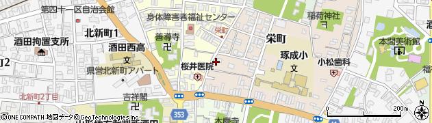 山形県酒田市栄町14周辺の地図