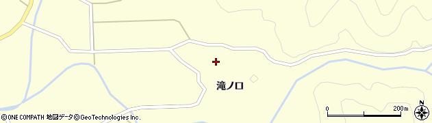 山形県酒田市北俣滝ノ口周辺の地図