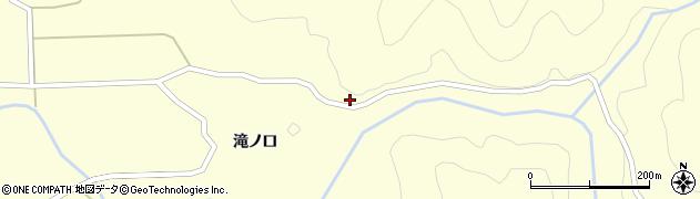 山形県酒田市北俣奥山周辺の地図