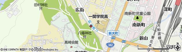 岩手県一関市八幡街周辺の地図