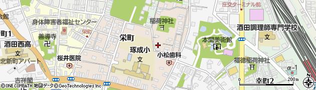 山形県酒田市栄町5-8周辺の地図
