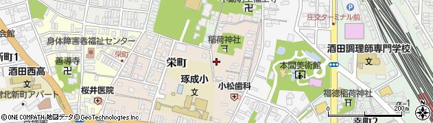 山形県酒田市栄町5-10周辺の地図