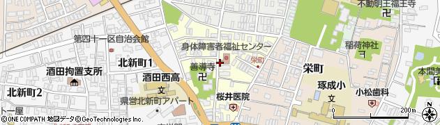 山形県酒田市北今町3周辺の地図