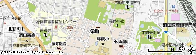 山形県酒田市栄町9周辺の地図
