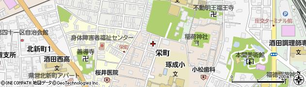 山形県酒田市栄町18周辺の地図