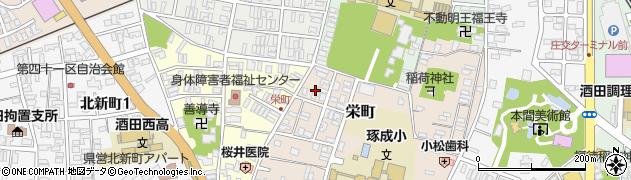 山形県酒田市栄町19周辺の地図