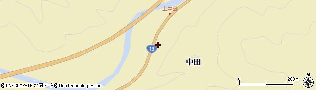 山形県最上郡金山町中田184周辺の地図