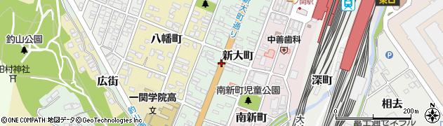 岩手県一関市新大町周辺の地図