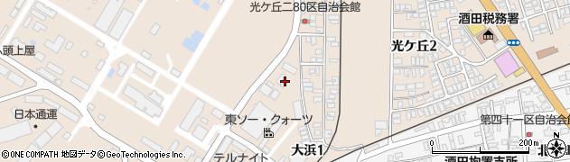 山形県酒田市大浜周辺の地図