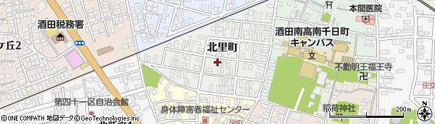 山形県酒田市北里町周辺の地図