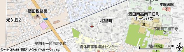 山形県酒田市北里町11周辺の地図