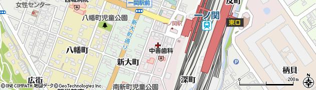 岩手県一関市駅前周辺の地図