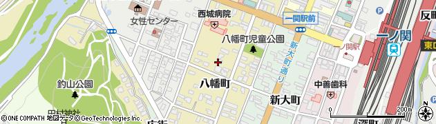 岩手県一関市八幡町周辺の地図
