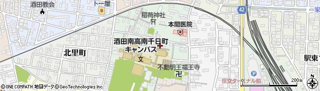 山形県酒田市南千日町3周辺の地図