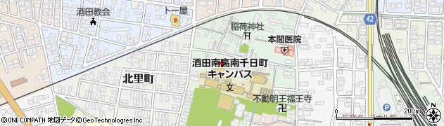 山形県酒田市南千日町8周辺の地図