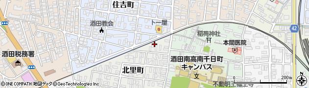 山形県酒田市北里町5周辺の地図