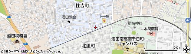 山形県酒田市住吉町1周辺の地図