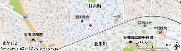 山形県酒田市住吉町14周辺の地図
